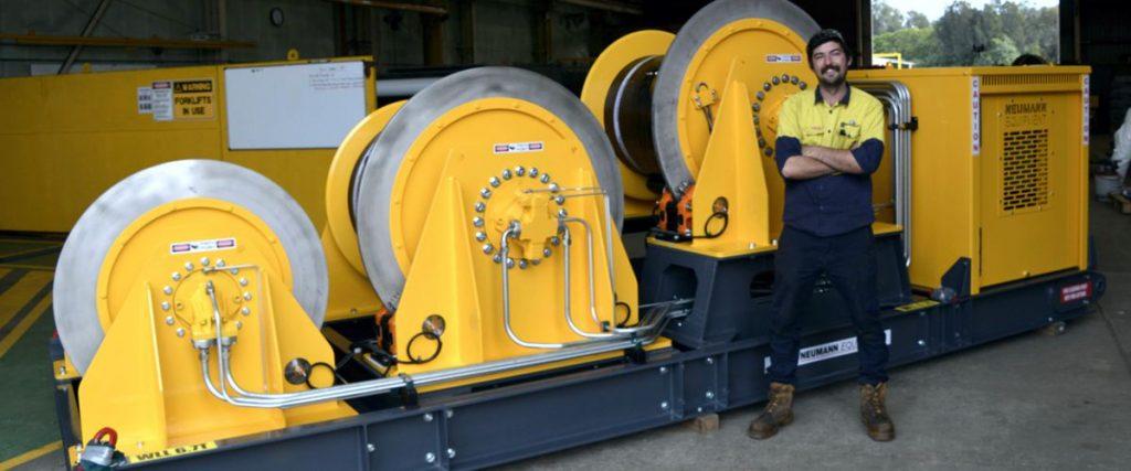 Diesel Hydraulic Triple Winch Unit